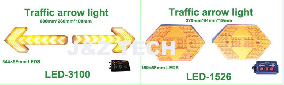 luces de flecha de tráfico ámbar led